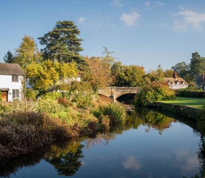 Arrow Bank and the picturesque village of Eardisland