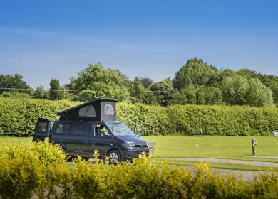 Motorhome pitches at Arrow Bank photo