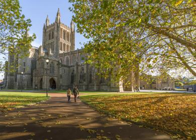 Hereford Cathedral in Autumn