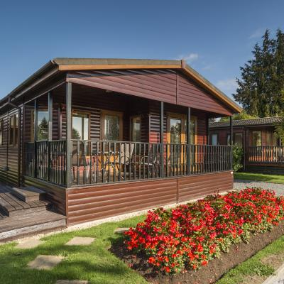 Self catering lodges at Arrow Bank, Herefordshire
