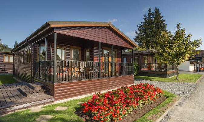 self catering holiday lodges at Arrow Bank